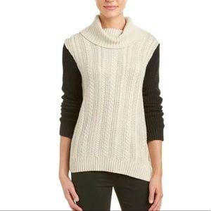 BCBGMAXAZRIA Taylin Sweater Oatmeal M Alpaca